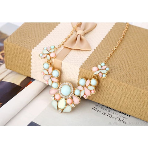 Image of Gem Fresh Candy Color Statement Pendant Necklaces - Custom Made | Free Shipping