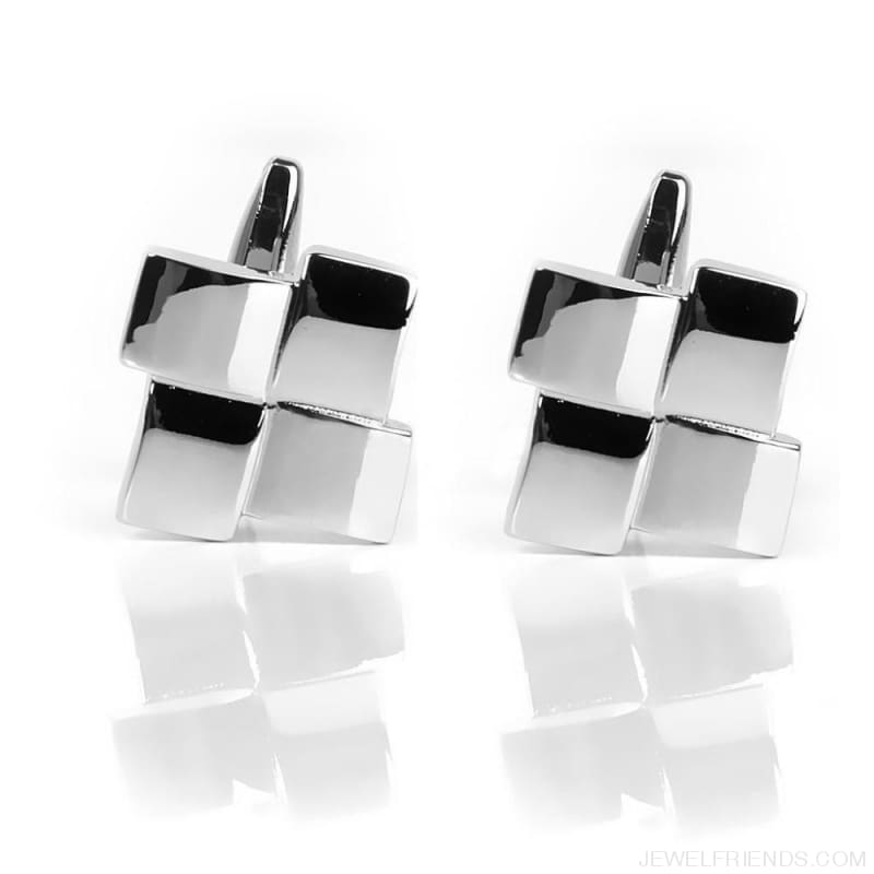 Geometric Unique Wedding Cuff Links - Custom Made | Free Shipping