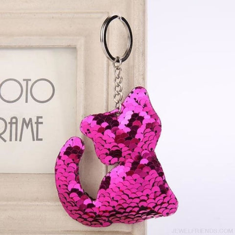 Image of Glitter Bear Pompom Sequins Keyring - Yl005 - Custom Made | Free Shipping