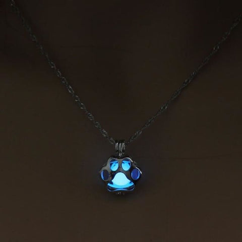 Image of Glow In The Dark Paw Necklace - 1 - Custom Made | Free Shipping