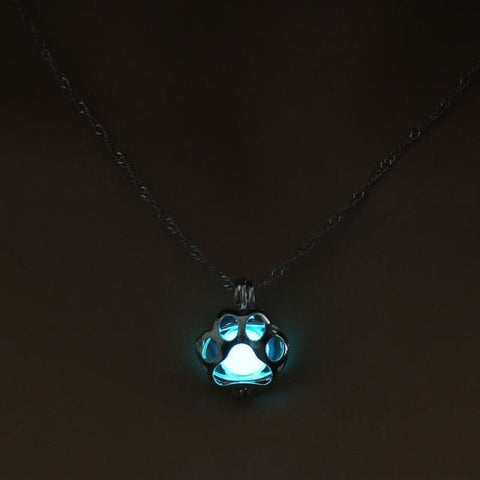 Image of Glow In The Dark Paw Necklace - 2 - Custom Made | Free Shipping
