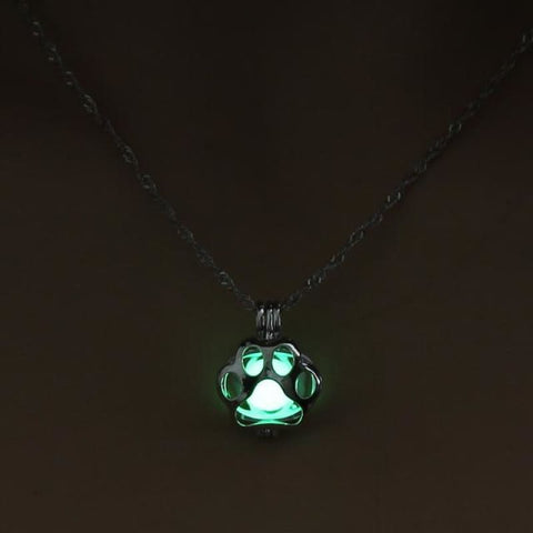 Image of Glow In The Dark Paw Necklace - 3 - Custom Made | Free Shipping