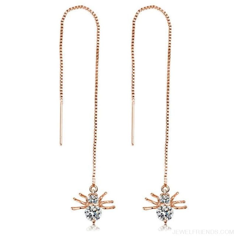 Gold/ Silver Color Star Streamlined Tassel Long Crystal Earrings - Custom Made | Free Shipping