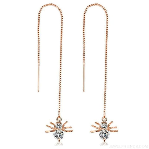 Image of Gold/ Silver Color Star Streamlined Tassel Long Crystal Earrings - Custom Made | Free Shipping