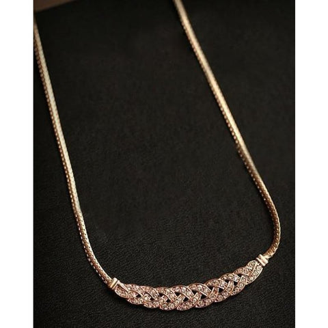 Image of Gold Silver Twist Shiny Chain Statement Necklaces - Custom Made | Free Shipping
