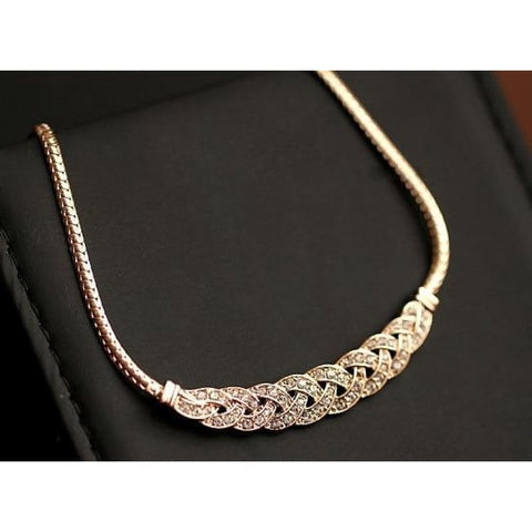 Image of Gold Silver Twist Shiny Chain Statement Necklaces - Gold - Custom Made | Free Shipping