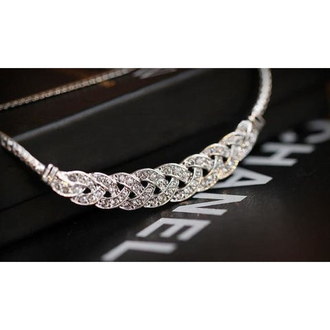 Image of Gold Silver Twist Shiny Chain Statement Necklaces - Silver - Custom Made | Free Shipping