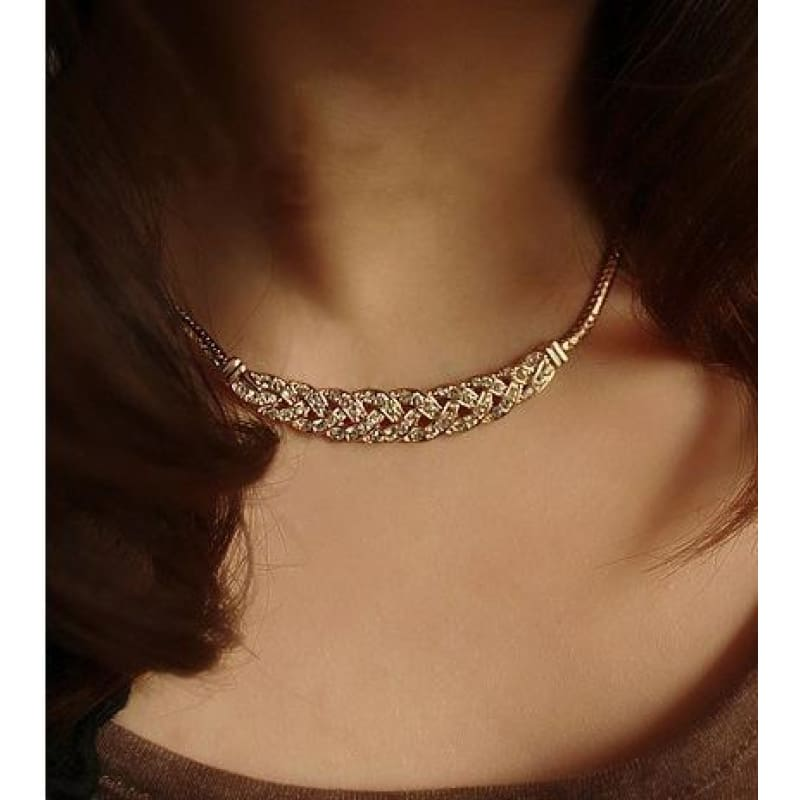 Gold Silver Twist Shiny Chain Statement Necklaces - Custom Made | Free Shipping