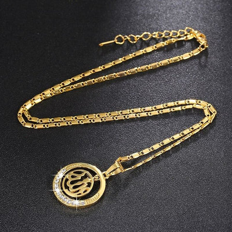 Image of Gold/silver/rose Gold Colors Arabic Islamic Pendant Necklaces - Custom Made | Free Shipping
