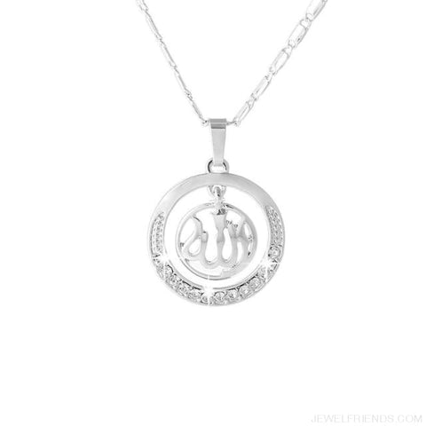 Image of Gold/silver/rose Gold Colors Arabic Islamic Pendant Necklaces - Silver / White / 45Cm - Custom Made | Free Shipping
