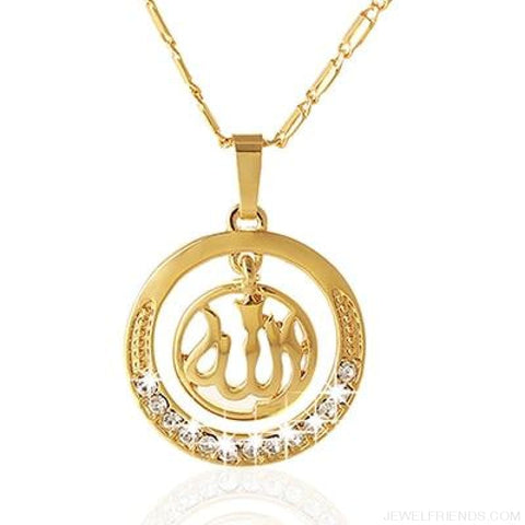 Image of Gold/silver/rose Gold Colors Arabic Islamic Pendant Necklaces - Gold / White / 45Cm - Custom Made | Free Shipping