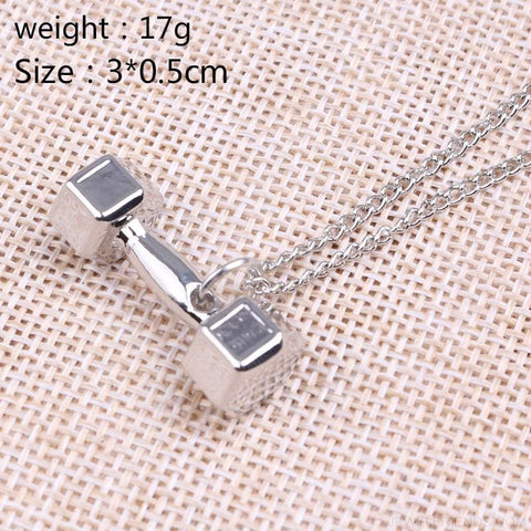 Gym Dumbbell Necklace - Custom Made | Free Shipping