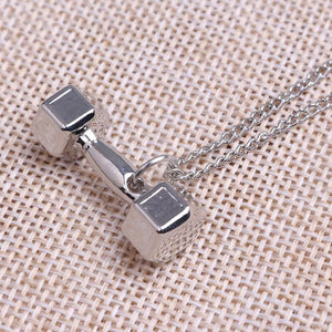 Gym Dumbbell Necklace