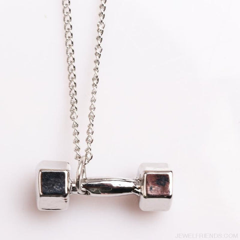 Image of Gym Dumbbell Necklace - Custom Made | Free Shipping