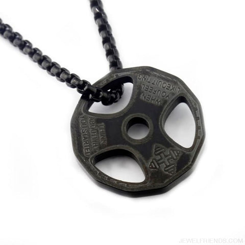 Image of Gym Weight Plate Pendant Necklace - Custom Made | Free Shipping