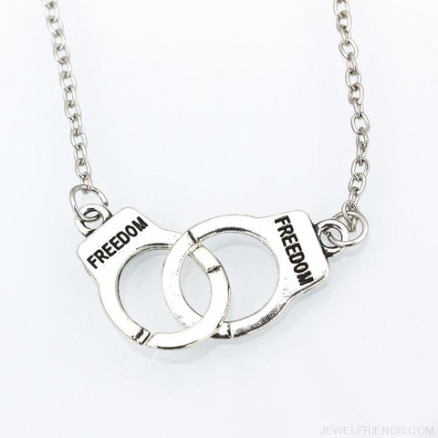 Image of Handcuff Pendant Necklace & Bracelet - Custom Made | Free Shipping