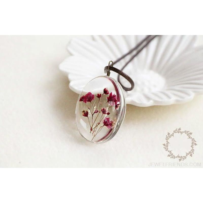 Handmade Dried Flower Necklace - Custom Made | Free Shipping