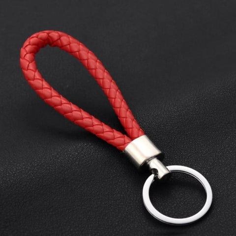 Image of Handmade Leather Rope Woven Keychain - Color 1 - Custom Made | Free Shipping
