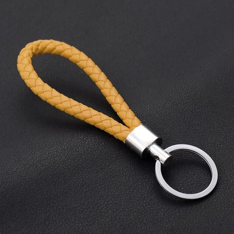 Image of Handmade Leather Rope Woven Keychain - Color 2 - Custom Made | Free Shipping
