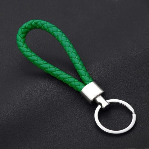Image of Handmade Leather Rope Woven Keychain - Color 3 - Custom Made | Free Shipping