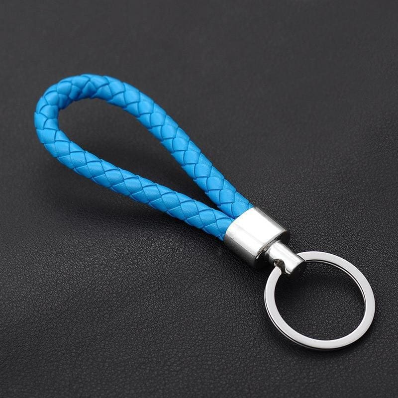 Handmade Leather Rope Woven Keychain - Custom Made | Free Shipping