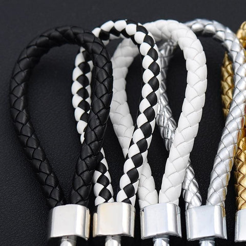 Image of Handmade Leather Rope Woven Keychain - Custom Made | Free Shipping
