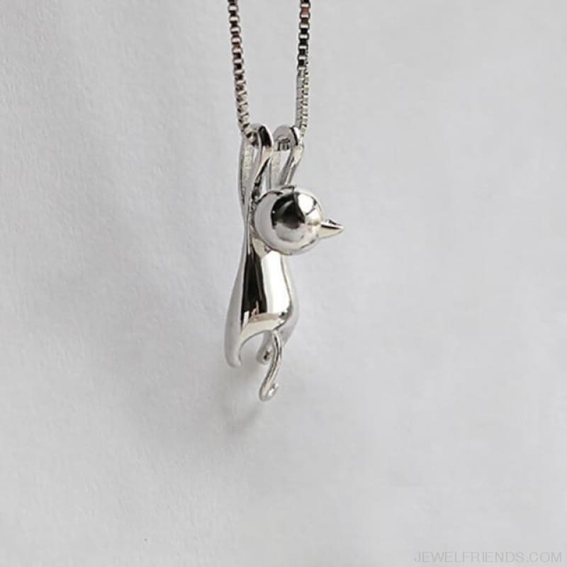 Hanging Cat Necklace - As Picture - Custom Made | Free Shipping