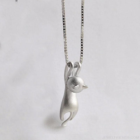 Image of Hanging Cat Necklace - Custom Made | Free Shipping