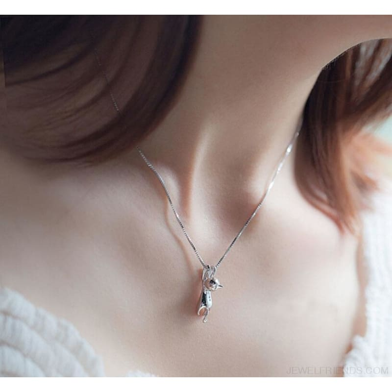 Hanging Cat Necklace - Custom Made | Free Shipping