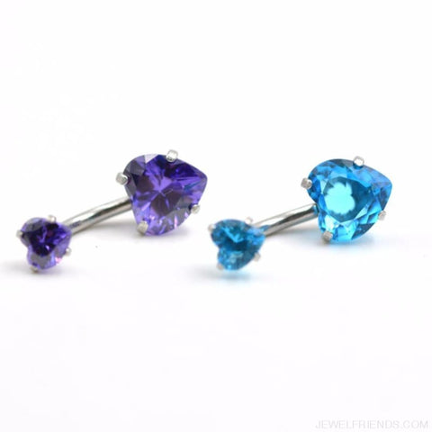 Heart Crystal Belly Button Rings - Custom Made | Free Shipping