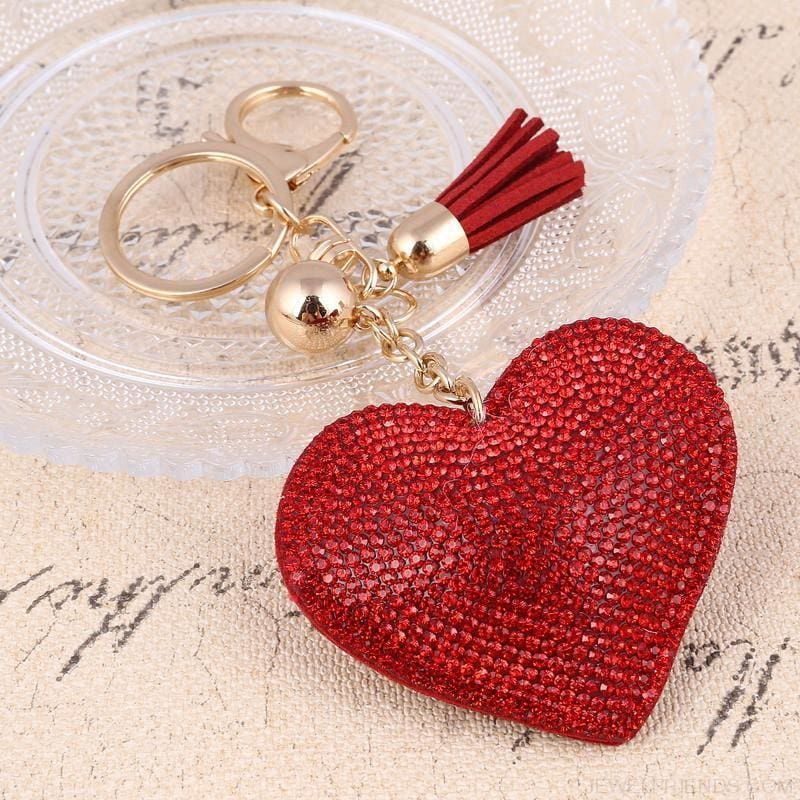 Heart Leather Tassel Gold Key Holder - Custom Made | Free Shipping