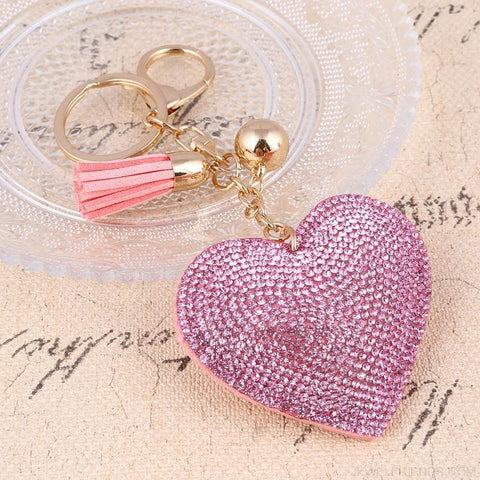 Image of Heart Leather Tassel Gold Key Holder - Custom Made | Free Shipping
