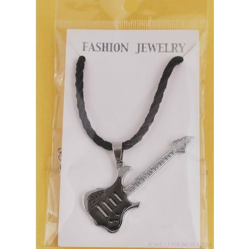 Heavy Guitar Stainless Steel Rope Chain Necklace - Custom Made | Free Shipping