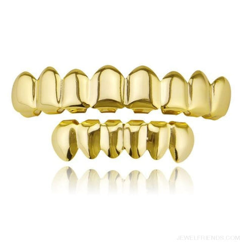 Image of Hip Hop Gold Teeth Grillz Top & Bottom Grills - Gold Set 1 - Custom Made | Free Shipping