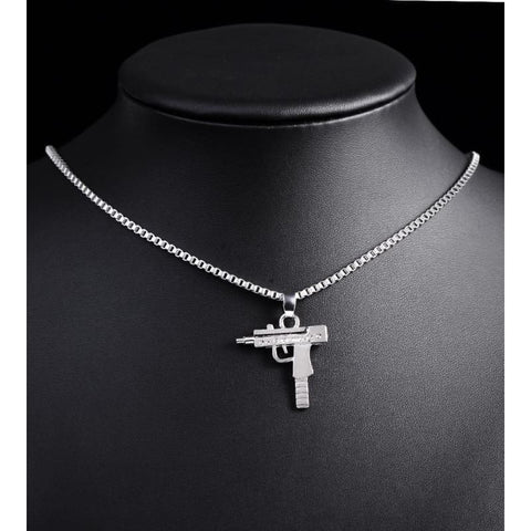 Image of Hip Hop Gun Shape Pendant Necklace - Custom Made | Free Shipping