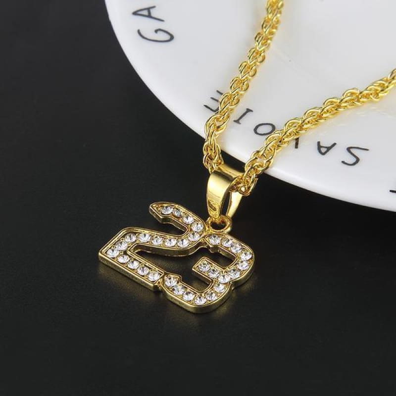 Hip Hop Number 23 Bling Chain Necklace - Custom Made | Free Shipping
