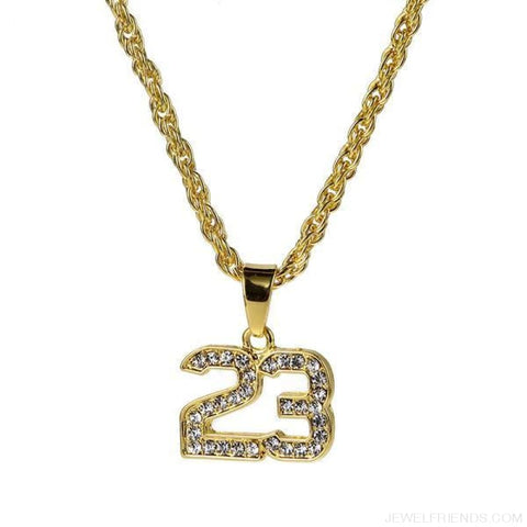 Image of Hip Hop Number 23 Bling Chain Necklace - Custom Made | Free Shipping