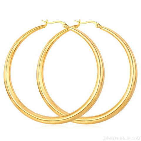 Image of Hiphop Big Hoop Earrings - Gold-Color - Custom Made | Free Shipping