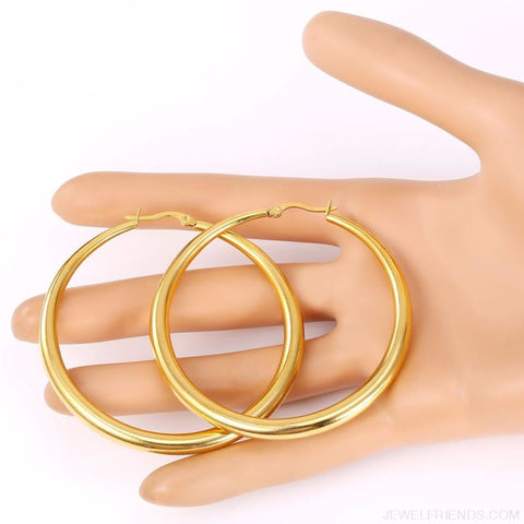 Image of Hiphop Big Hoop Earrings - Custom Made | Free Shipping