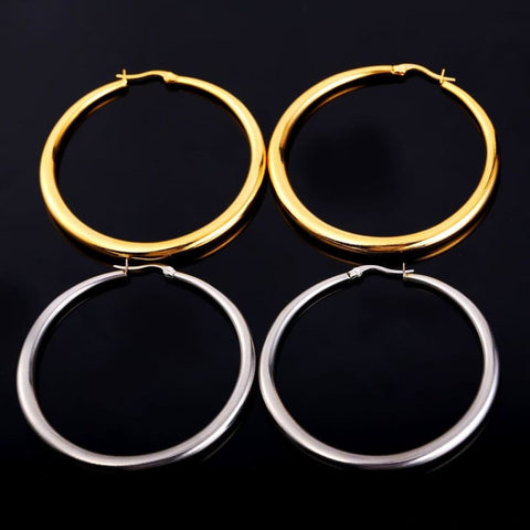 Hiphop Big Hoop Earrings - Custom Made | Free Shipping