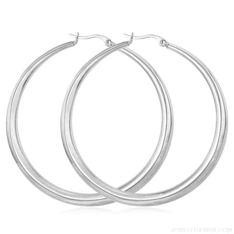 Hiphop Big Hoop Earrings - Stainless Steel - Custom Made | Free Shipping