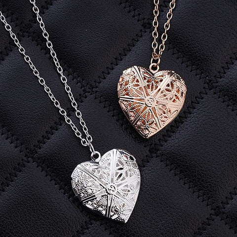 Image of Hollow Heart Add Image Inside Pendant Necklaces - Custom Made | Free Shipping