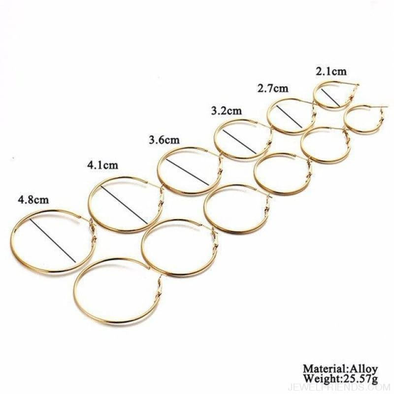 Hoop Sets - Gold - Custom Made | Free Shipping