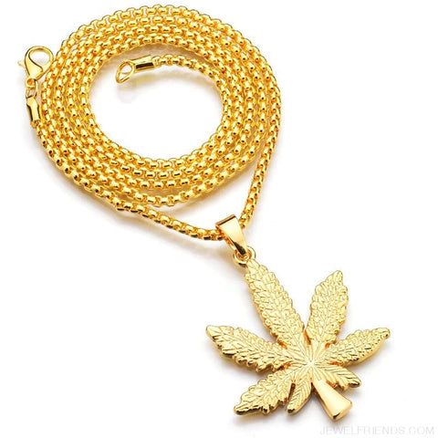 Image of Iced Out Weed Hip Hop Necklace - Custom Made | Free Shipping