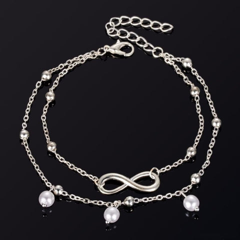Image of Infinite Ball Chain Foot Anklets - Custom Made | Free Shipping