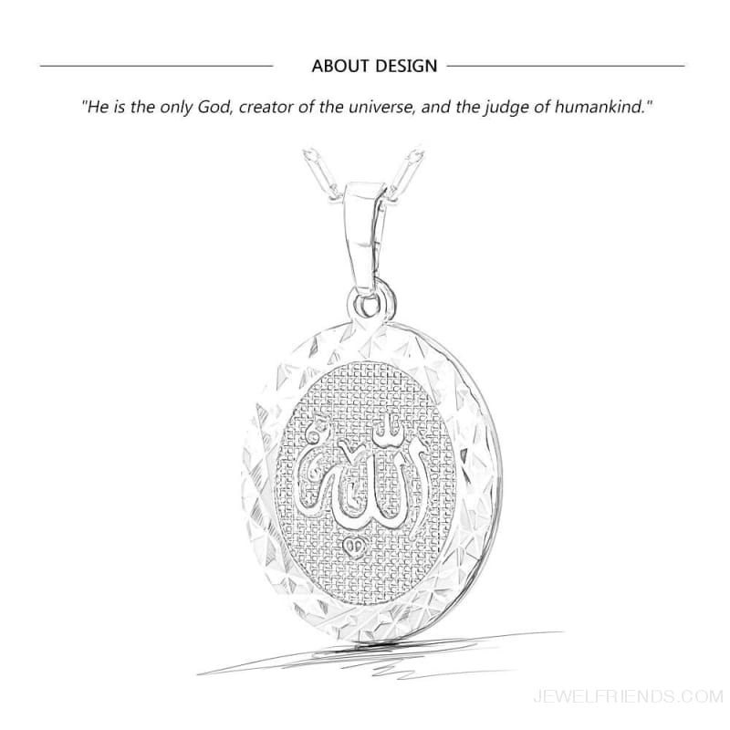 Islamic Allah Round Pendant Necklace - Custom Made | Free Shipping