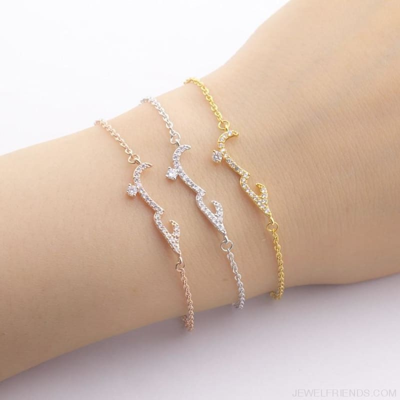 Islamic Jewelry Rose Gold Arabic Bracelets - Custom Made | Free Shipping