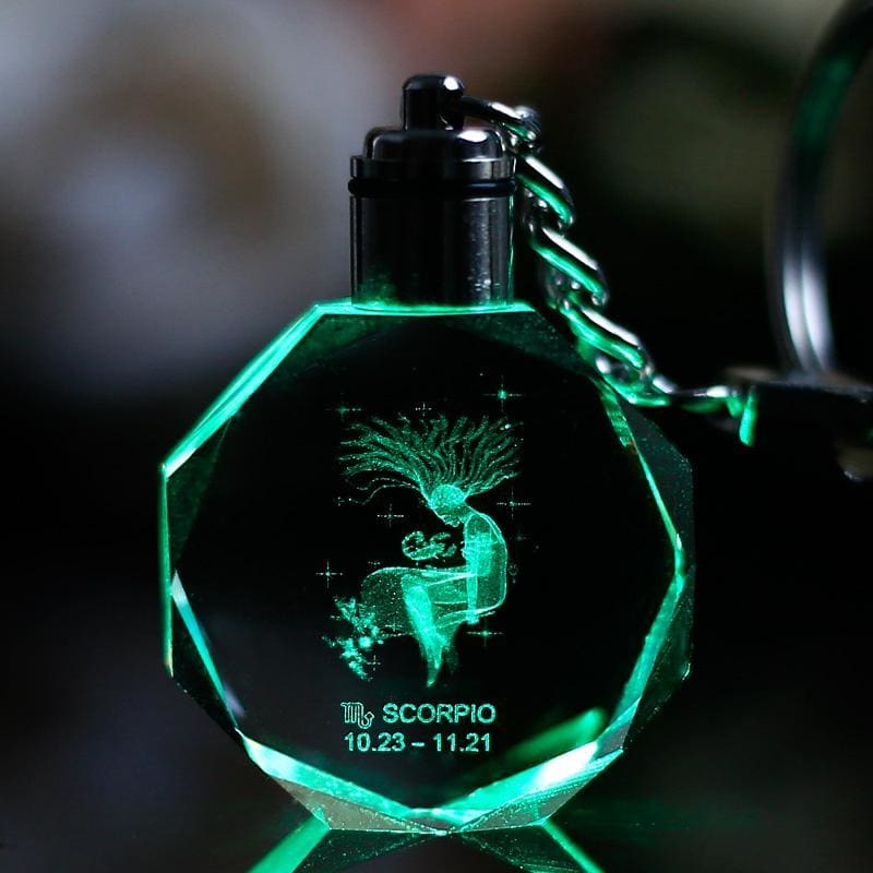 Key Chain Led Light Zodiac With Changing Color - Custom Made | Free Shipping