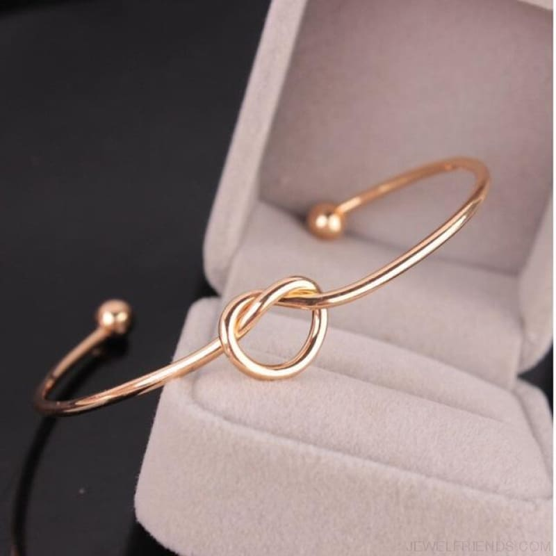 Knotted Cuff Bracelets - Gold - Custom Made | Free Shipping