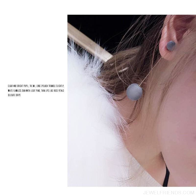 Korea Style Ball Drop Earrings - Custom Made | Free Shipping